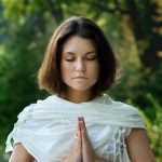 Girl-meditating-and-praying-by-water-wallpapers